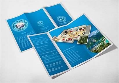 Brochure Template Resort Creative Fold Tri Inspiration
