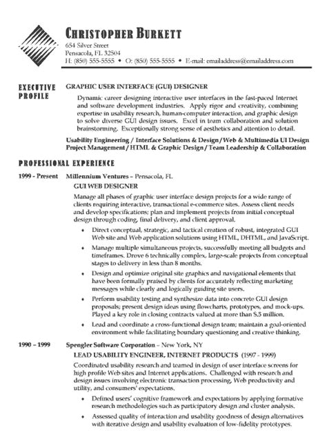 Technical Designer Resume Template by Software Developer Resume Exle