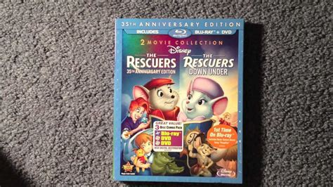 Unboxing The Rescuers / The Rescuers Down Under Blu-ray