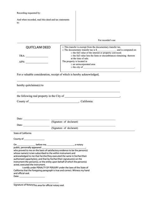 quit claim form california free top 17 quit claim deed form california templates free to