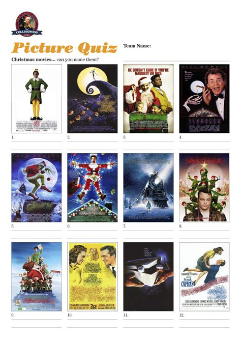 christmas film picture quiz printable festival collections