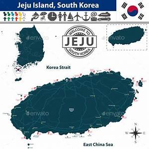 Map of Jeju Island, South Korea by sateda2012