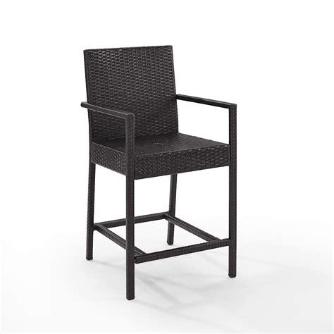 Crosley Bar Stools - crosley palm harbor outdoor wicker counter bistro stools