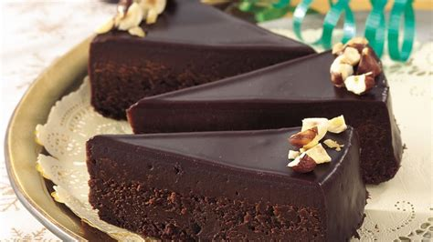 chocolate glazed fudge cake recipe pillsburycom