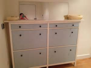 Ikea Mandal Dresser Canada by Wedded Hemnes Shoe Cabinets Twined And Painted Get
