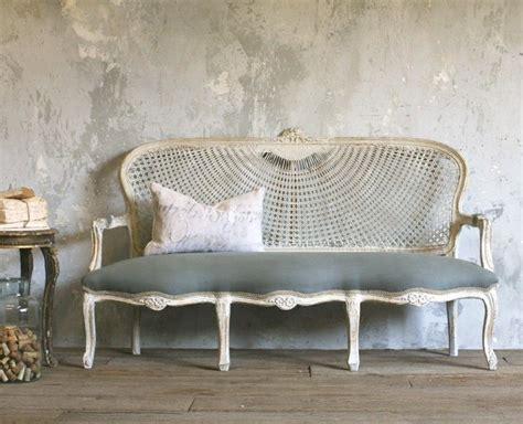 Shabby Chic Settee Furniture by Vintage Louis Xv Style Upholstered Setee
