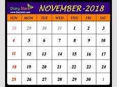 November 2018 printable calendar templates Printable