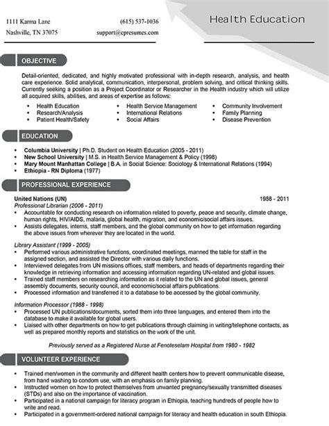 Experienced Healthcare Professional Resume by Resume Sles Types Of Resume Formats Exles And