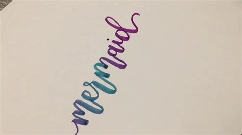 write in color modern calligraphy how to blend colors and write modern