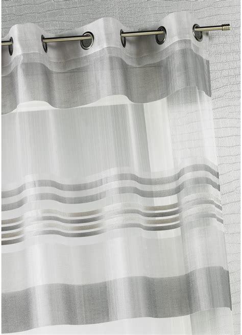 Rideaux Rayures Horizontales Noir Et Blanc by Voilage Organza Rayures Horizontales Tiss 233 Es Gris