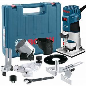 Bosch GKF 600 1/4 Palm Router/Laminate Trimmer Kit inc