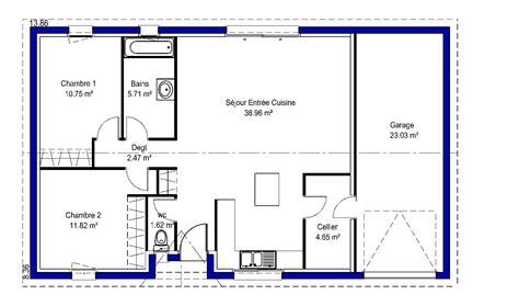 plan de maison 2 chambres lina contemporaine maisons lara