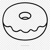 Donut Coloring Pages Doughnut Kawaii sketch template