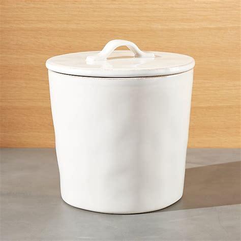marin medium white ceramic kitchen canister crate  barrel