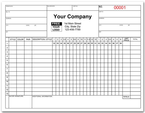 apparel purchase order form apparel purchase order forms
