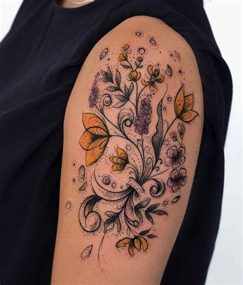 Vintage Floral Tattoo  Best Tattoo Ideas Gallery