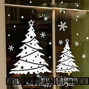 xmas snowflake christmas tree windows glass wall stickers decal home decor ebay
