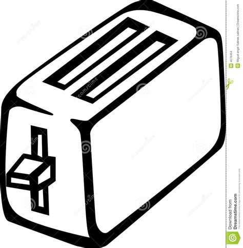 toaster clipart black and white tostadora ilustraci 243 n vector ilustraci 243 n de