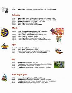 pack 66 events calendar cub scout pack 66 south With boy scout calendar template