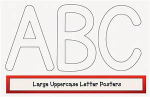Classroom freebies large uppercase letter posters for Big poster letters