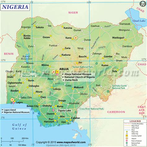 nigeria geographical information nigerian embassy