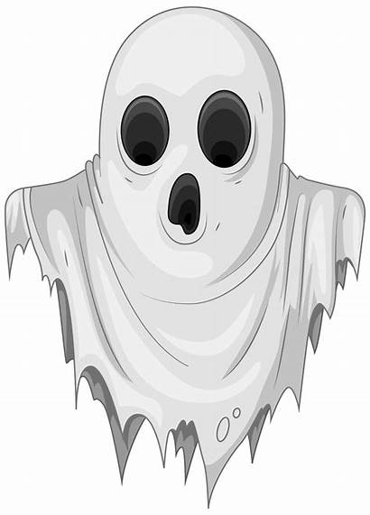 Ghost Transparent Clipart Haunted Halloween Clip Realistic