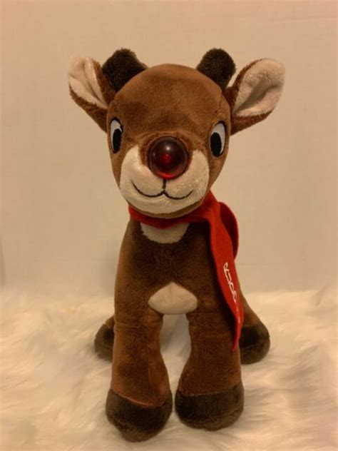 """Theatre for young audiences version. Musical Rudolph the Red Nose Reindeer 10"""" tall Plush ..."""
