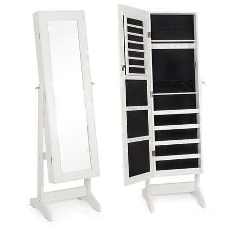 Mirror Storage Jewelry Armoire by New Mirrored Jewelry Cabinet Mirror W Stand Organizer