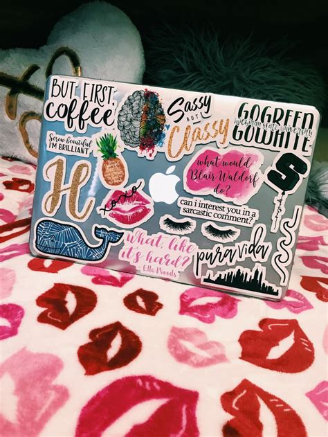 Preppy redbubble laptop stickers | Laptop stickers collage ...
