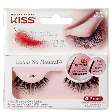 Kiss Natural Lashes  Pretty  False Eyelashes