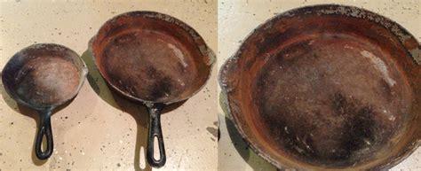 refurbishing rusted cast iron cookware vanlife academy