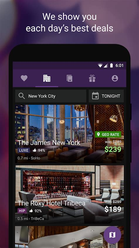 hotel tonight amazing deals android apps on google play