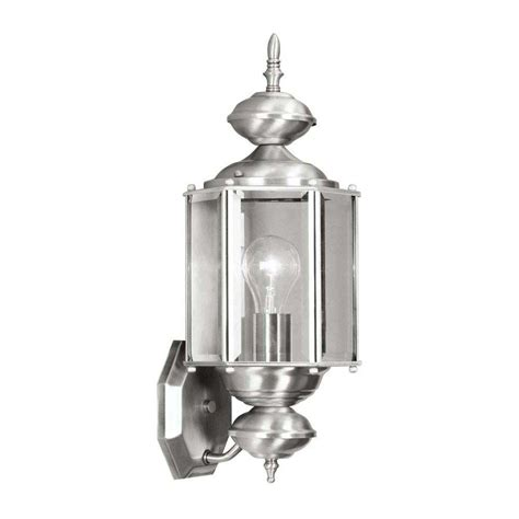 livex lighting wall mount 1 light brushed nickel outdoor