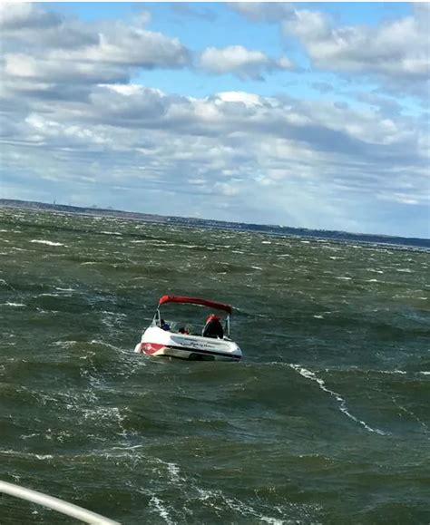Tow Boat Us Atlantic Highlands by Coast Guard Rescues Four Adrift In In 22 Foot