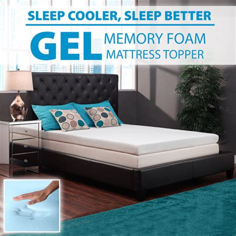 bed toppers walmart signature sleep 4 quot renewfoam memory foam mattress topper