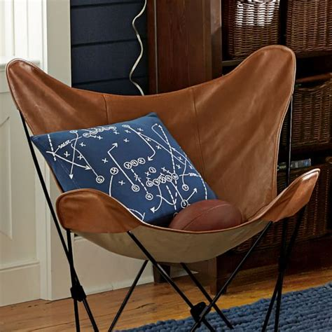 faux leather sling butterfly chair pbteen