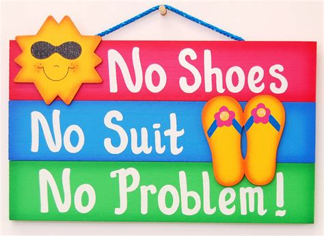 Funny Outdoor Pool Sign No Shoes-no Suit-no Problem By Ucsign