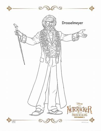 Coloring Nutcracker Pages Realms Four Sheets Drosselmeyer