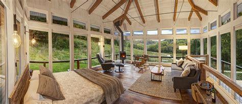 glass cabin wisconsin meadow house woodz