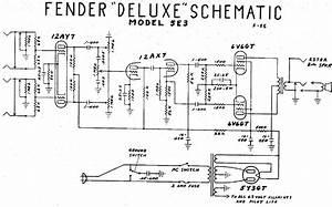 Fender Deluxe 5e3 Sch Service Manual Download  Schematics