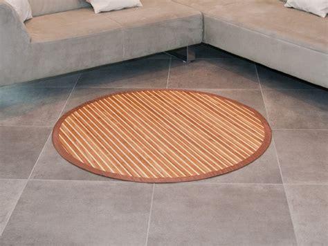 Bambusteppich Rund Runder Bambus Matte Teppich Vorleger