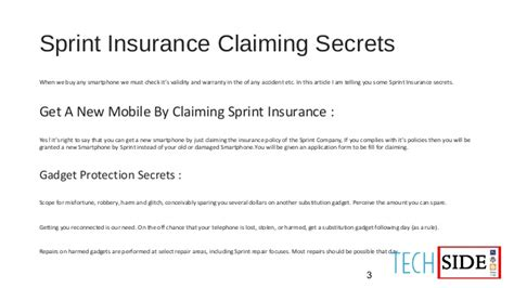I have insurance with sprint and i need to file a claim. Sprint Insurance Claiming Secrets