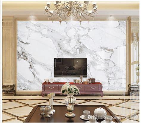 photo wallpaper custom  wall murals white marble