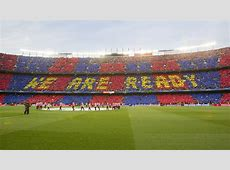 'More than a club', el mosaico del Camp Nou ante la Juve