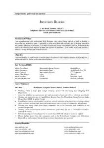 professional profiles on resumes the resume professional profile exles recentresumes