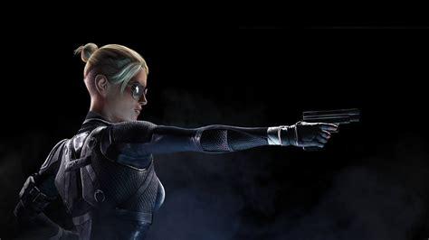 Full Hd Wallpaper Cassie Cage Gun Glasses Mortal Kombat X