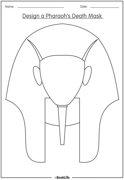 Ancient Mask Template by Free Activity Sheet Design A Pharaoh S Mask Booklife