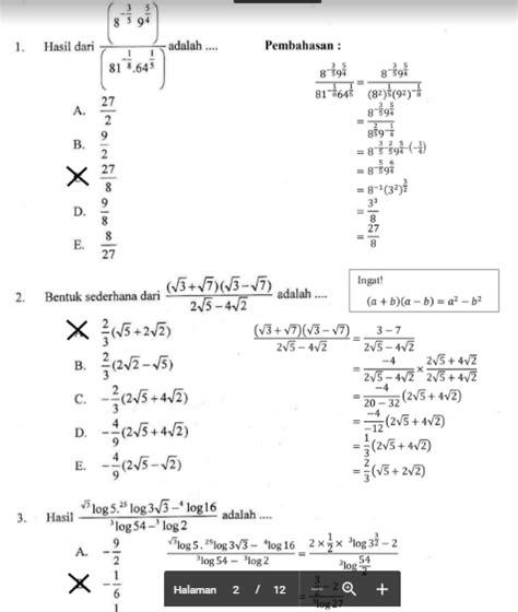 Metode ini digunakan untuk menyelesaikan pemfaktoran aljabar dengan cara mencari fpb dari aljabar tersebut. Most Wanted Soal Un Matematika Sma 2019 Dan Pembahasannya