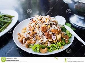 Thai food, yam pla duk foo stock image. Image of lunch ...