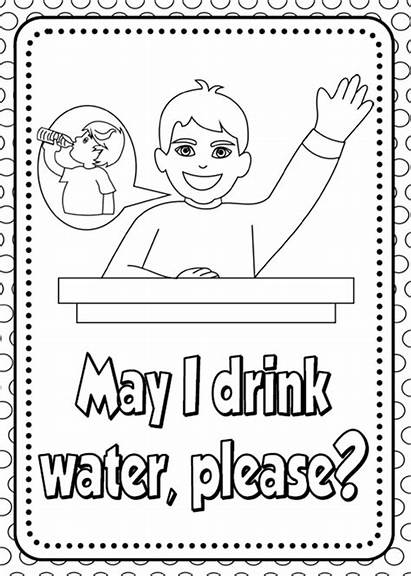 Classroom Language Rules English Colouring Pages Class